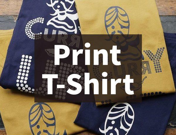 Denim & Curry Print T-Shirt